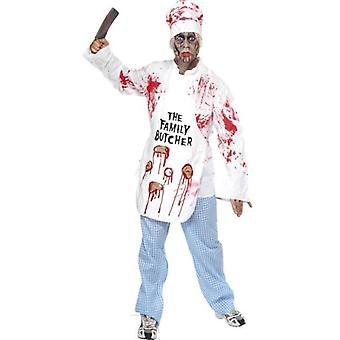 Smiffys Deadly Chef Costume White With Jacket Hat Apron & Trousers (Costumes)