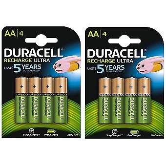 Duracell HR06-P 2500mAh Pre-charged AA (2 x 4 Pack)