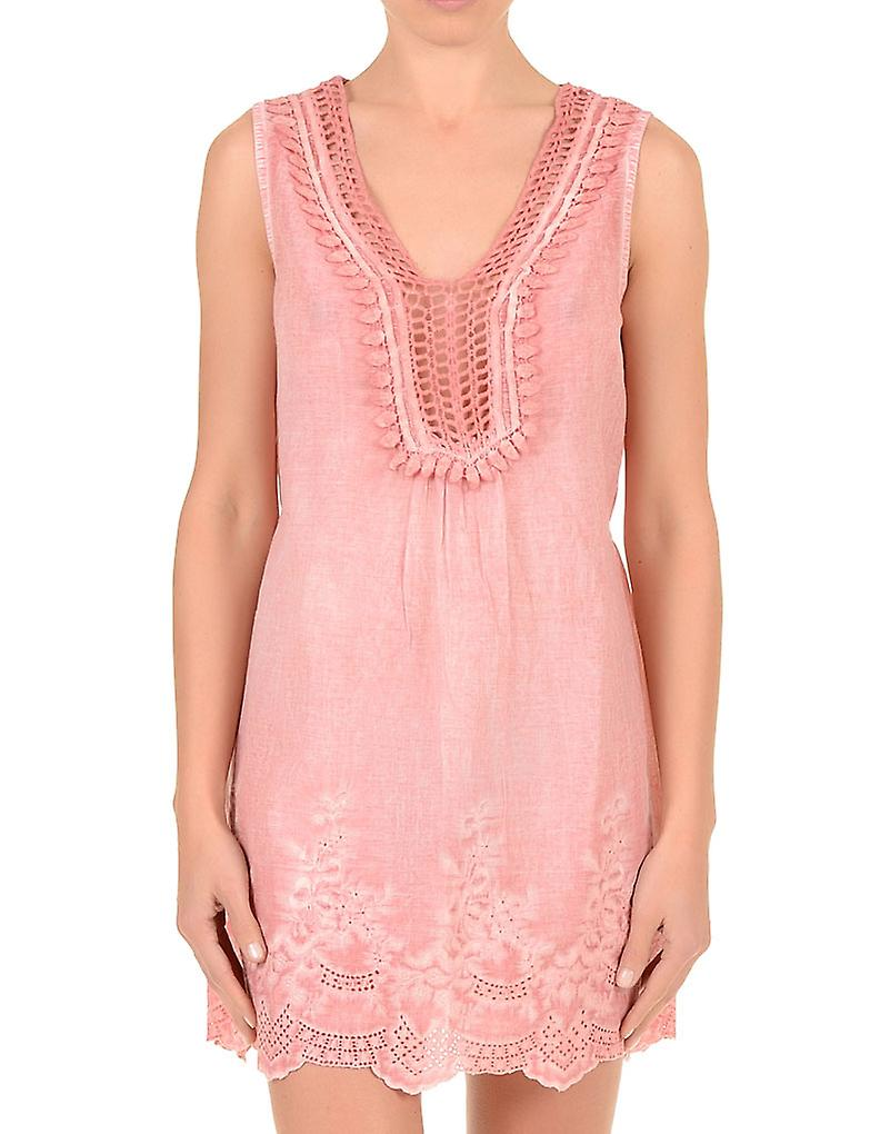 Iconique IC7-071 Women's Pink Cotton Beach Dress