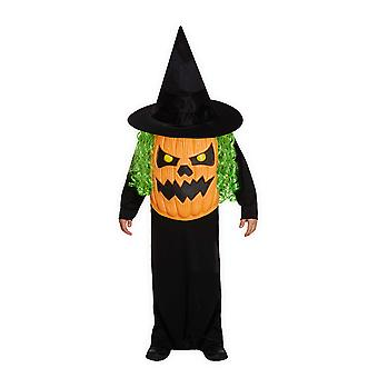 Children's Halloween Jumbo Pumpkin Head Face Fancy Dress Costume