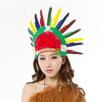 Abito adulto selvaggio West Indian Head Fascia Costume Fancy Dress