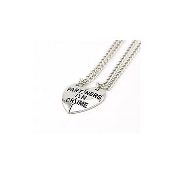 The Fashion Bible Partners In Crime Silver Friendship Necklaces