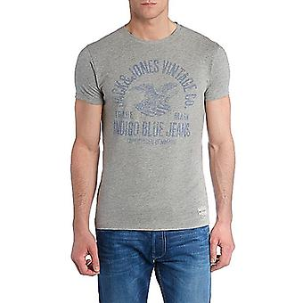 Jack and Jones Indigo Blues Tee Light Grey T-Shirt