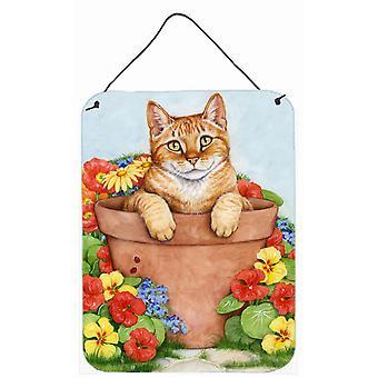 Gember kat In Pot door Debbie Cook muur of deur hangen Prints