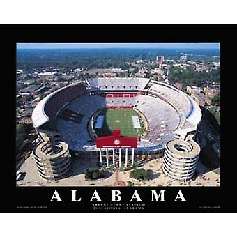 University Of Alabama - Bryant-Denny Sta stampa del manifesto di Mike Smith (28 x 22)