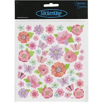 Multicolored Stickers-Pink Peonies SK129MC-4920