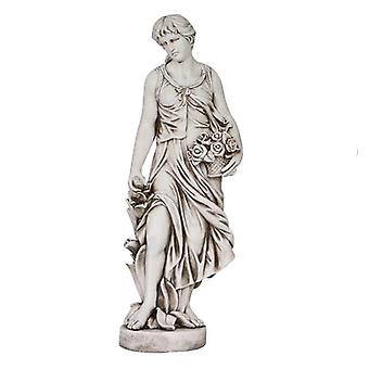 Solstice Sculptures Sally in Summer 119cm Antique Stone Effect Statue
