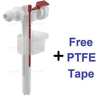 WC Toilette Schwimmerventil - Seiteneinlass - 1/2'' Rohrgewinde - Zisternenventil