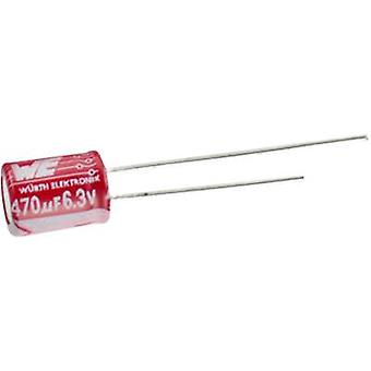 Electrolytic capacitor Radial lead 3.5 mm 100 µF