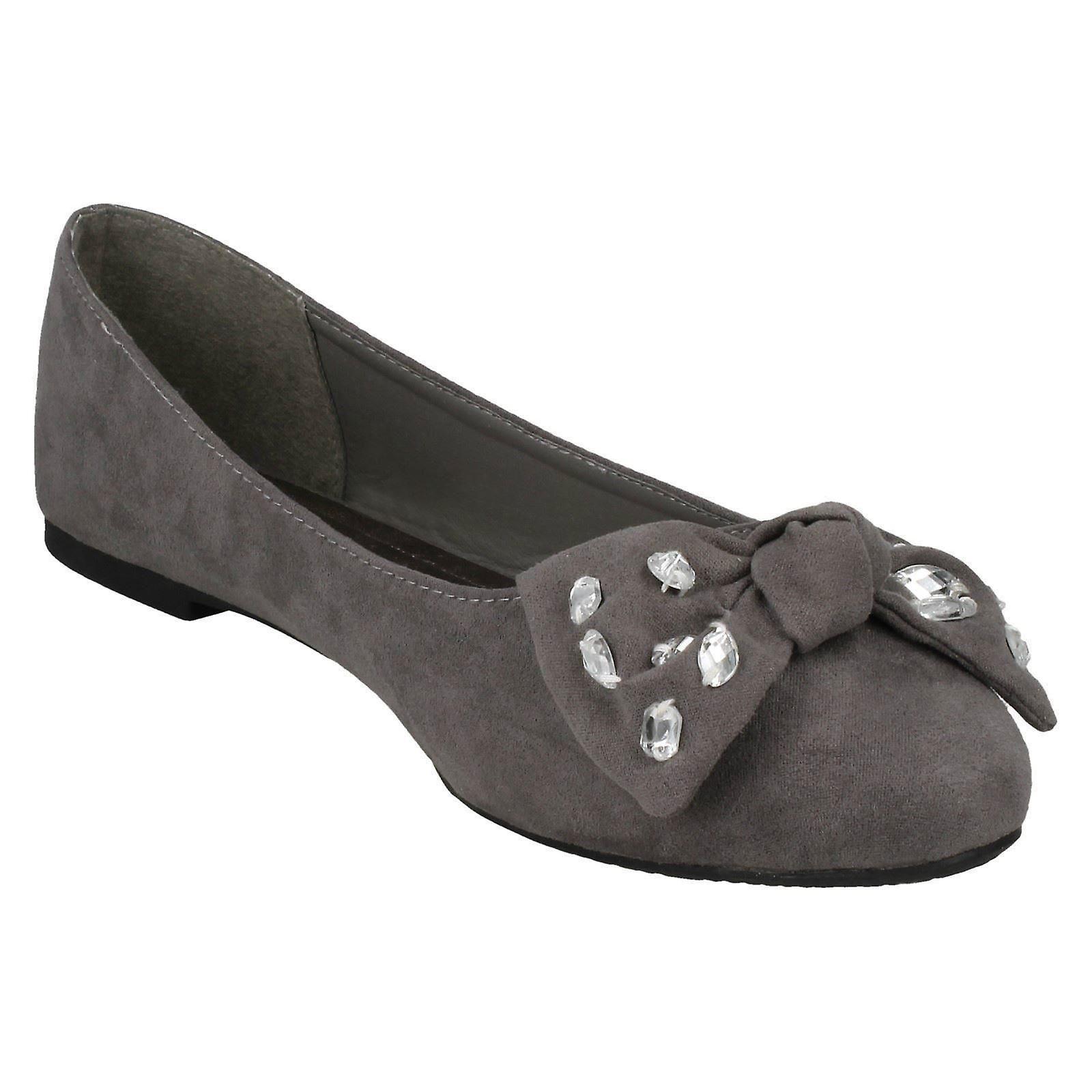 Spot Ballerina Ladies F80386 Shoes Bow On Jewel 7fTdaq