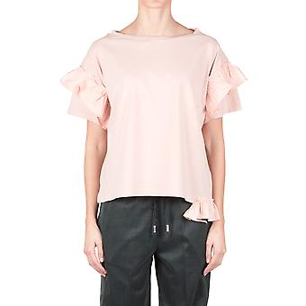 Semi Couture ladies Y8PM09PINK pink cotton T-Shirt