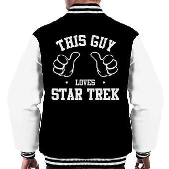 Ten facet kocha Star Trek mężczyzn uniwerek kurtka