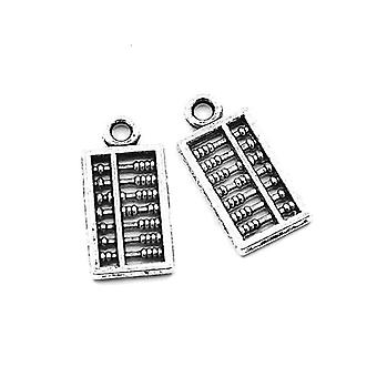Packet 10 x Antique Silver Tibetan 18mm Abacus Charm/Pendant ZX02835