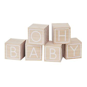 Baby Shower Wooden Building Block GUEST BOOK Alternative OH BABY!