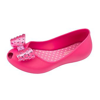 Girls Zaxy Ballerina Slip On Shoes / Confetti Ballet Flats - Bright Pink