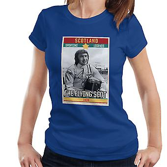 Sporting Legends Poster Scotland Jackie Stewart Formula 1 The Flying Scot 1939 Women's T-Shirt