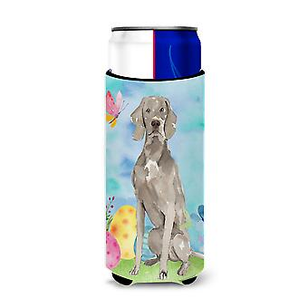Easter Eggs Weimaraner Michelob Ultra Hugger for slim cans
