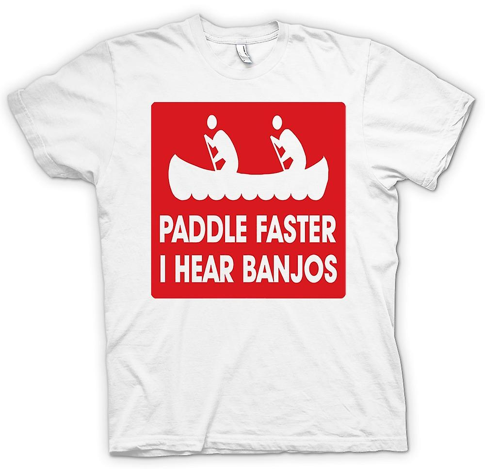Womens T-shirt - Paddle Faster I Hear Banjos - Quote