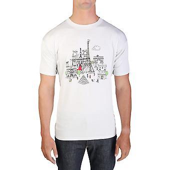 Lanvin Men's Paris Printed Oversized T-Shirt Light Grey