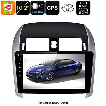 2 DIN Car Stereo Toyota Corolla - Octa Core CPU, 4GB RAM, 10.2 Inch Touch Screen, CAN BUS, GPS, Bluetooth, Android 8.0