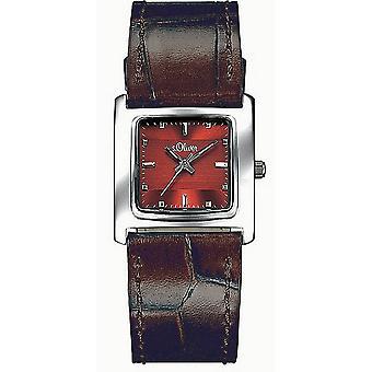 s.Oliver dames pols horloge analoog kwarts lederen SO-15049-LQR