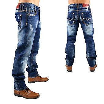 New Men's Jeans Designer Vintage Destroyed Club WearStyle thick seam