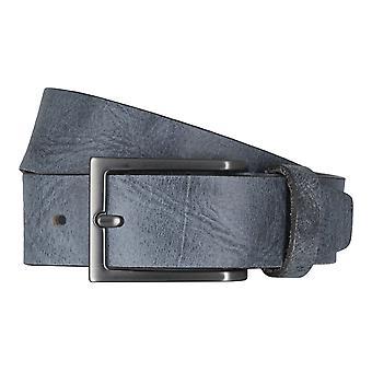 LLOYD Men's belt belts men's belts leather belt Buffalo leather blue 6611