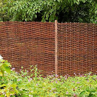 Forest Garden 6ft Woven Willow Hurdle Fence Panel