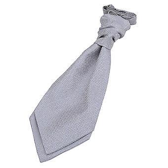 Sølv græske centrale pre-bundet bryllup Cravat for drenge