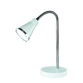 アラス モダンな白いプラスチック製のテーブル ランプを照明トリオ