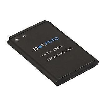 Dot.Foto Nokia BL - 5C-Ersatz-Akku - 3,7V / 1000mAh [siehe Beschreibung für Kompatibilität]