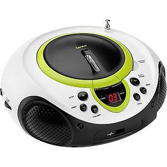 Lenco SCD-38 USB FM Radio/CD AUX, CD, FM, USB Green