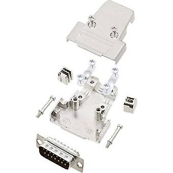 encitech TRI-M-15-DBP-K D-SUB pin strip set 180 ° Number of pins: 15 Solder bucket 1 Set