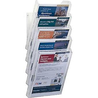 Durable Brochure holder 8586-19 Transparent 242 mm x 580 mm x 155 mm No. of compartments 5