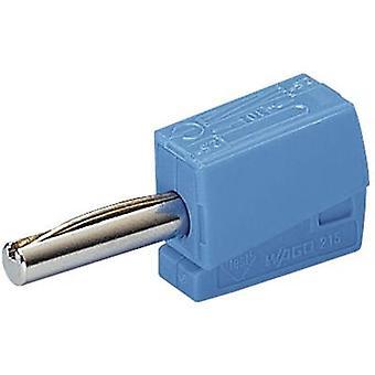 WAGO Jack plug Plug, straight Pin diameter: 4 mm Blue 1 pc(s)