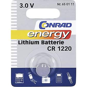 Button cell CR1220 Lithium Conrad energy CR1220 30