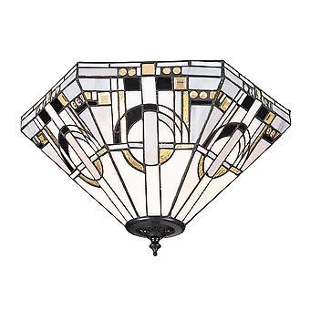 Interiors 1900 Metropolitan 2 Light Flush Ceiling Fitting With M