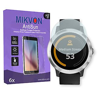 Garmin vivoactive 3 Screen Protector - Mikvon AntiSun (Retail Package with accessories)
