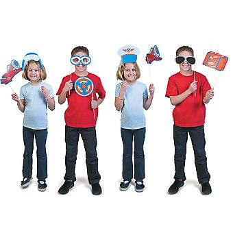 SALE - Air Travel Photo Booth Props for Parties