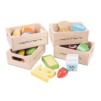 Bigjigs Toys Wooden Play Food Healthy Eating Dairy Food Play Set Roleplay