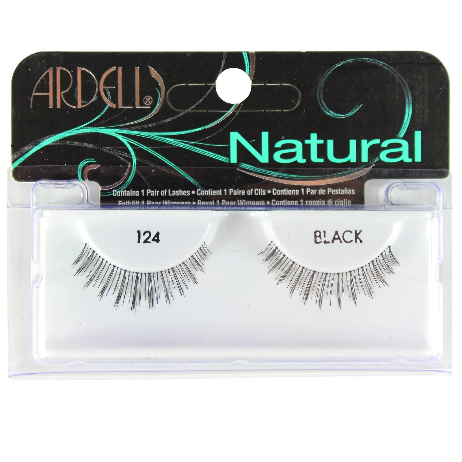 Natural Ardell Black False Eyelashes No124 7fgIyvY6mb