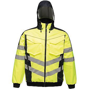 Regatta Mens Hi Vis Pro Waterproof Workwear Bomber Jacket