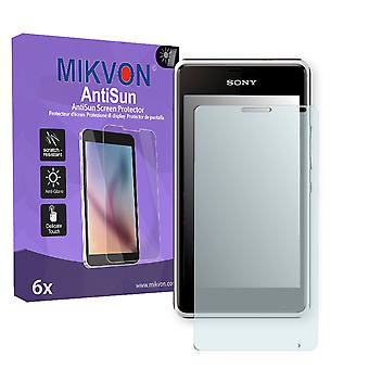 Sony Xperia E1 Screen Protector - Mikvon AntiSun (Retail Package with accessories)
