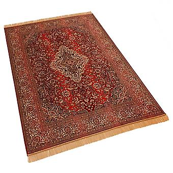 Large Red Persian Medallion Traditional Design Artificial Faux Silk Effect Rugs 9099/12 160 x 230cm