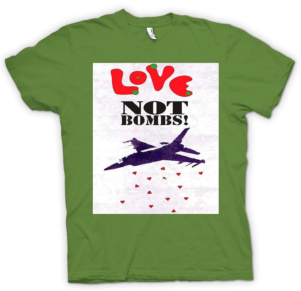 Camiseta para hombre - el amor no bombas - paz