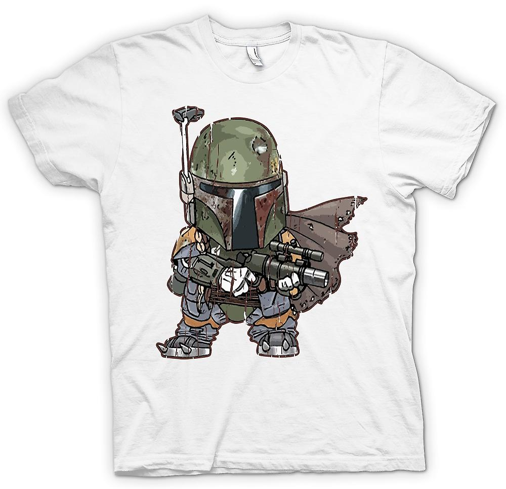 Mens T-shirt - Cute Baby Chibi Bobba Fett - Cool Star Wars Inspired