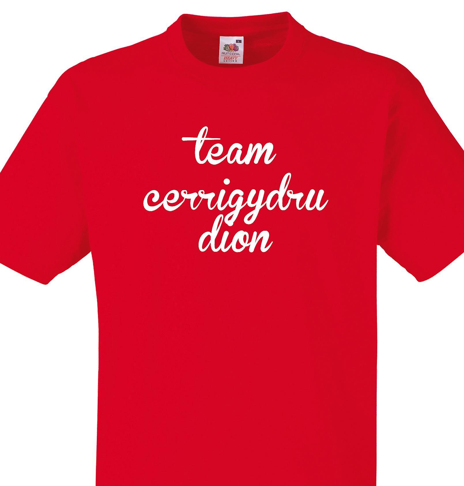 Team Cerrigydrudion Red T shirt