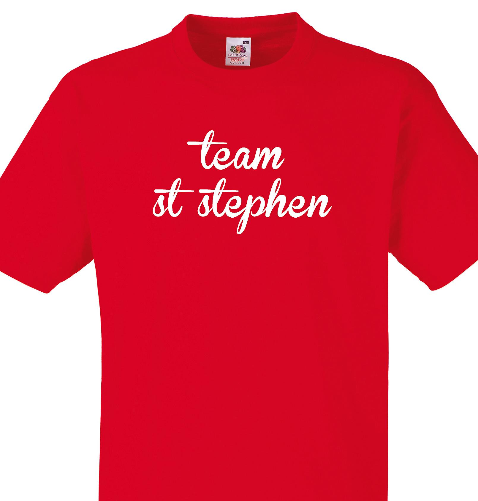 Team St stephen Red T shirt