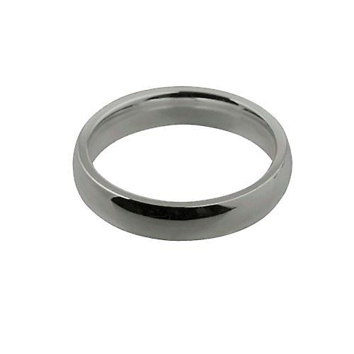 9ct White Gold 4mm plain Court shaped Wedding Ring