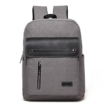 Comfortable backpack with leatherette-Gray